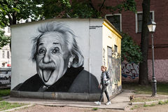Graffiti portrait of Albert Einstein Royalty Free Stock Photos