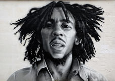 Graffiti portrait of Bob Marley Royalty Free Stock Photos