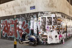 Graffiti and posters, Lebanon Royalty Free Stock Photography
