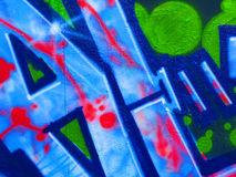 Graffiti, Praag Stock Foto's