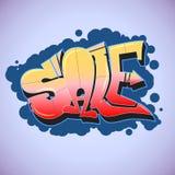 Graffiti projektują, sprzedaży inskrypcja, miastowa sztuka Obrazy Stock