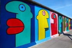 Graffiti przy wschodniej części galerią, Berlin Fotografia Royalty Free
