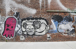 Graffiti przy Wschodnim Williamsburg w Brooklyn Obraz Royalty Free