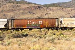Graffiti on railroad car Stock Photos