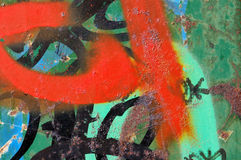 graffiti rdza obrazy stock