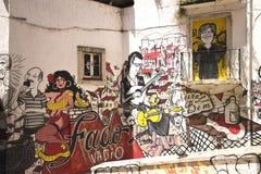 Graffiti representation of typical Portuguese Fado Royalty Free Stock Photography