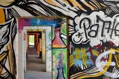 Graffiti in Rheinpark Duisburg Immagine Stock Libera da Diritti