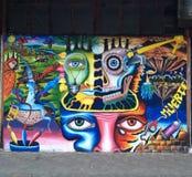 Graffiti Rio Janeiro stock afbeelding