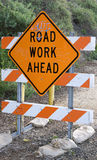 Graffiti road work. Road work sign with graffiti on it Stock Photography