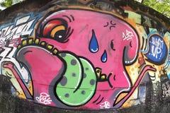 Graffiti rosa del mostro immagine stock