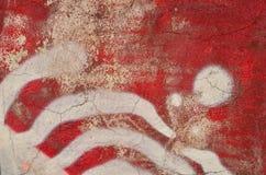 Graffiti rossi e bianchi illustrazione di stock