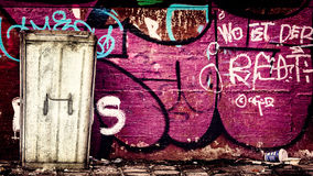 Graffiti rubbish bin Royalty Free Stock Photography