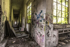 Graffiti in the rubble Royalty Free Stock Photography