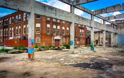 Graffiti on the ruins of an old building in Glen Rock, Pennsylva Royalty Free Stock Photo