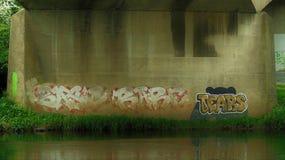 Graffiti rzeka Obrazy Royalty Free