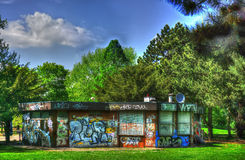 Graffiti-Schloss-Park lizenzfreie stockfotografie