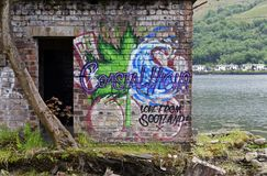 Graffiti Schotse stijl Stock Afbeeldingen