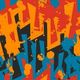 Graffiti seamless pattern with blob effect. (eps 10 Stock Photos