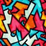 Graffiti seamless pattern with grunge effect Stock Image