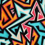 Graffiti seamless pattern with grunge effect Stock Photography