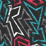 Graffiti seamless pattern with grunge effect. (eps 10 vector file royalty free illustration