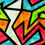 Graffiti seamless pattern with grunge effect Stock Photo