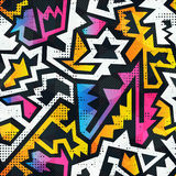 Graffiti seamless pattern with grunge effect Royalty Free Stock Image