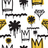 Graffiti seamless pattern Royalty Free Stock Photography