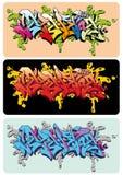 Graffiti Selektor. Graffiti vector sketch design, word Selektor Stock Photos