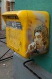 Graffiti Serge Gainsbourg na skrzynce pocztowa Fotografia Royalty Free