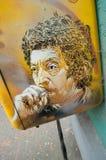 Graffiti Serge Gainsbourg na skrzynce pocztowa Obraz Stock