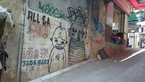 Graffiti at Sheung Wan. Graffiti  at Sheung Wan, Hong Kong Royalty Free Stock Photography