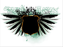 Graffiti shield Stock Images
