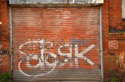 Graffiti shutter Stock Photography