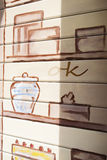 Graffiti on the shutter Royalty Free Stock Image