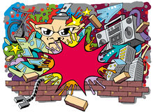 Graffiti Skate Roller background 03 Royalty Free Stock Photos