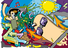 Graffiti Skate Roller background 02 Stock Photo
