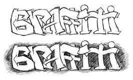 Graffiti sketch Stock Photo