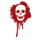 graffiti skull blood red Royalty Free Stock Photo