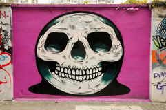 Graffiti Skull stock photography