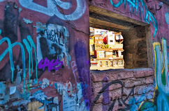Graffiti and Slums Stock Photography