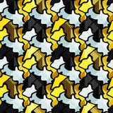 Graffiti small psychedelic seamless pattern vector illustration Stock Photography