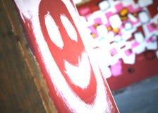 Graffiti-smiley stockfotografie