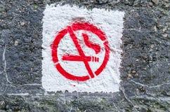 Graffiti smoking ban Stock Image