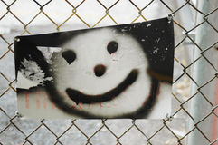 Graffiti snowman Stock Image