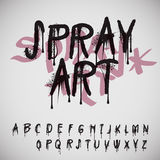 Graffiti splash alphabet stock illustration
