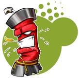 Graffiti spray. Aggressive graffiti spray. Bolonchik spray with a human face. Vector drawing Royalty Free Stock Photo