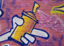 Graffiti: spray can in action Stock Images