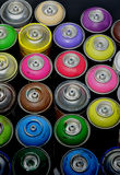 Graffiti spray cans Stock Photography
