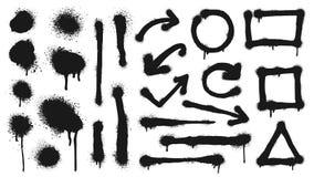 Free Graffiti Spray Lines, Grunge Dots, Arrows And Frames Stock Photos - 193367393